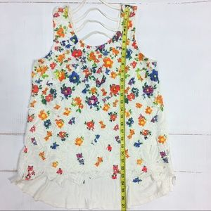 Romeo & Juliet Couture Tops - Romeo + Juliet   floral crocheted lace   tank top